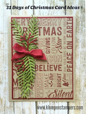Klompen Stampers (Stampin' Up! Demonstrator Jackie Bolhuis): 31 Days of Christmas Cards - Day #12
