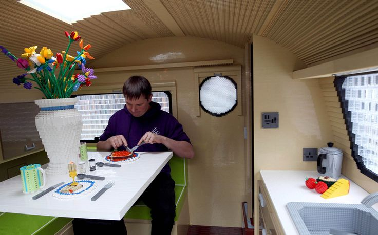 A full size caravan made out of Lego bricks by Bright Bricks in Bordon, Hampshire, which is a Guinness World record and took nearly 3 months to make will be on display at the Telegraph Outdoor & Adventure Travel show from 11th - 14th February.