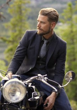 the 3 piece...and a motorcycle // suit, tie, menswear, three piece suit