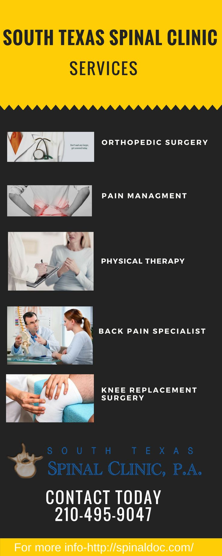 South Texas Spinal Clinic  Are you are thinking about spine surgery for neck pain, back pain, or other pain? for more detail visit at http://spinaldoc.com/