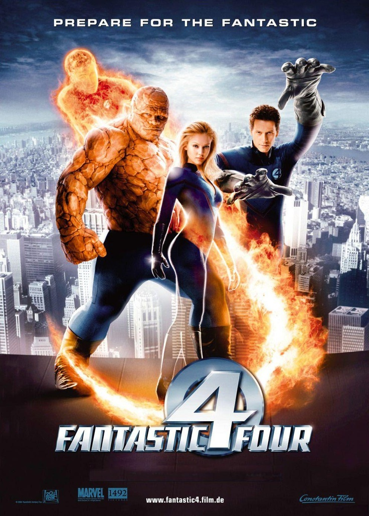 Rotten Tomatoes with Critic Score-27% and User Score-46%. Fantastic Four (2005). Welsh actor Ioan Gruffudd as Reed Richards/Mr.Fantastic, actor Michael Chiklis as Ben Grimm/The Thing, actor Chris Evan as Johnny Storm/ Human Touch, actress Jessica Alba as Sue Storm/Invisible Woman.