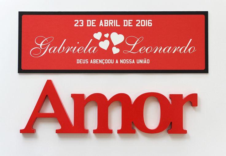 Procurando profissionais para fazer aquele produto diferente do seu casamento?  Parabéns aos noivos Gabriela e Leonardo que fizeram esta linda placa de carro conosco.