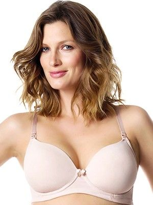 HOTmilk Forever Yours Nursing Bra in Nude from breastmates.co.nz -- A gorgeously comfortable and smooth T-shirt breastfeeding bra with flexiwire for support. Adjustable straps can be worn as standard or with a back crossover. Super-soft and comfortable for breastfeeding.