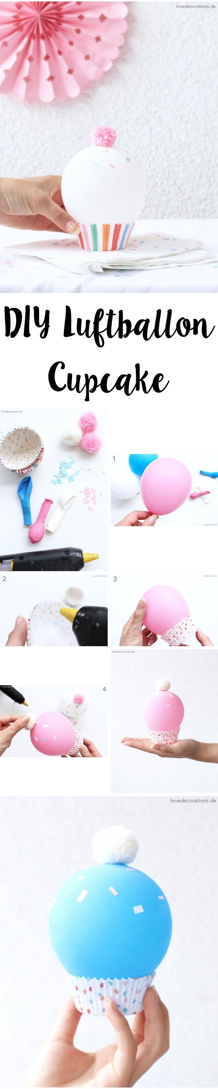 DIY Luftballon Cupcake |DIY Balloon Cupcake