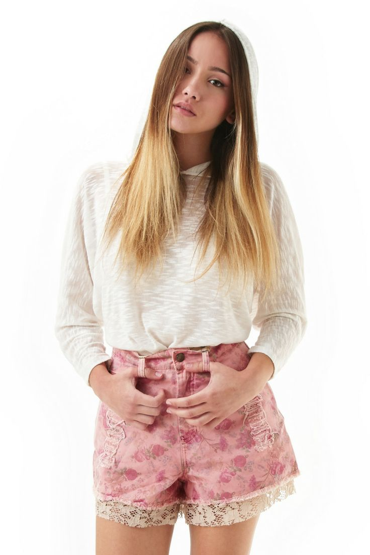 'Alcyone' Pink High Waisted Jean Shorts