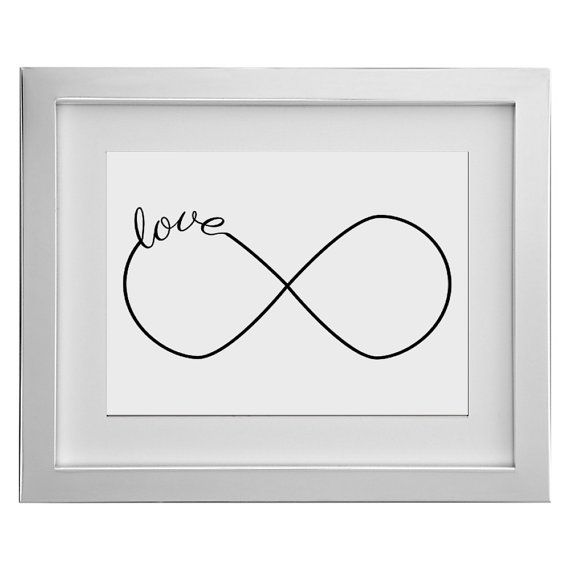 Prefect for 8 year wedding anniversary-infinity love image valetines gift