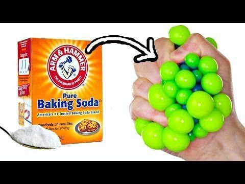 BAKING SODA STRESS BALLS | EASY DIY Squishy Toys for Kids - YouTube