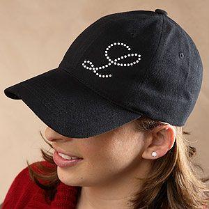 Rhinestone Monogram Baseball Cap