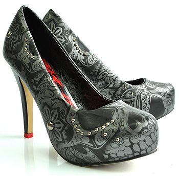 Coolest shoes ever... Iron Fist's Sweet Skull O Mine. I WOULD so wear high heels if I had these.