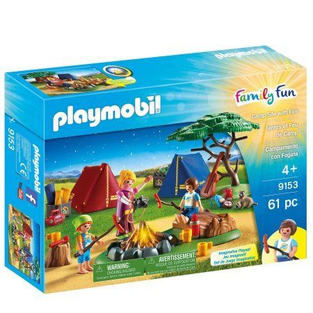 Playmobil Camp Site with Fire, Multicolor