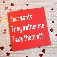 Valentines card, Valentine's Day card, rude valentine's card, funny valentine's, card for boyfriend, boyfriend valentine, husband valentine, by AprilDaysDesigns on Etsy