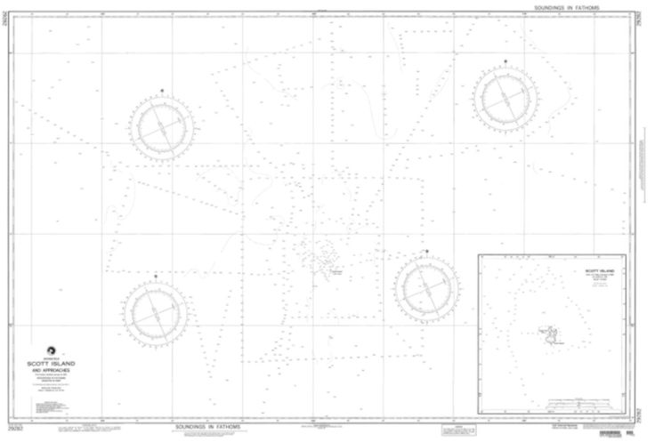Scott Island And Approaches Nautical Chart (29282) by National Geospatial-Intelligence Agency