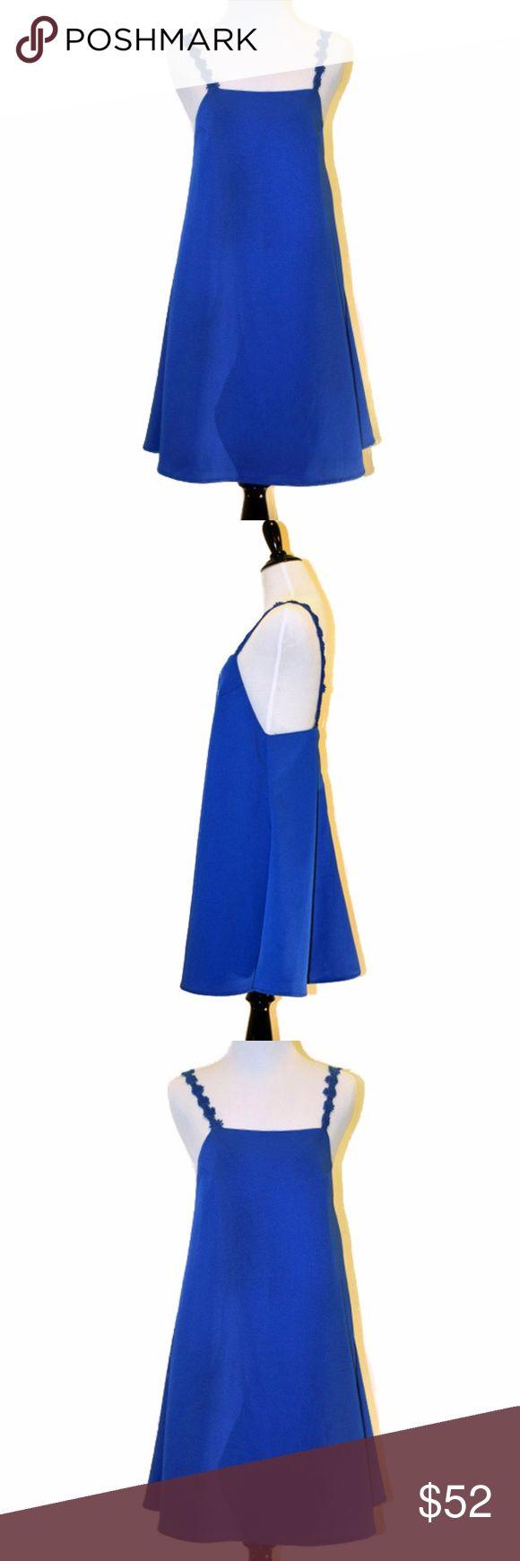 Eric + lani Daisy Strap Blue Mini Dress Daisy Strap Mini Dress  New With tag  Bright blue 100% Polyester Mini dress Hand wash cold Brand: Eric + lani Size Small Eric + lani Dresses Mini