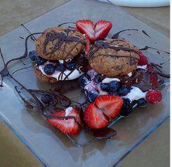 Triple Chocolate Brownie made with Doubletree cookies...YUM!