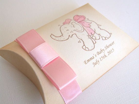 Baby Elephant Shower Favor Box Personalized by simplyprettypieces