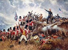 General Andrew Jackson stands on the parapet of his makeshift defenses as his troops repulse attacking Highlanders during the defense of New Orleans, the final major battle of the War of 1812  - Wikipedia, the free encyclopedia
