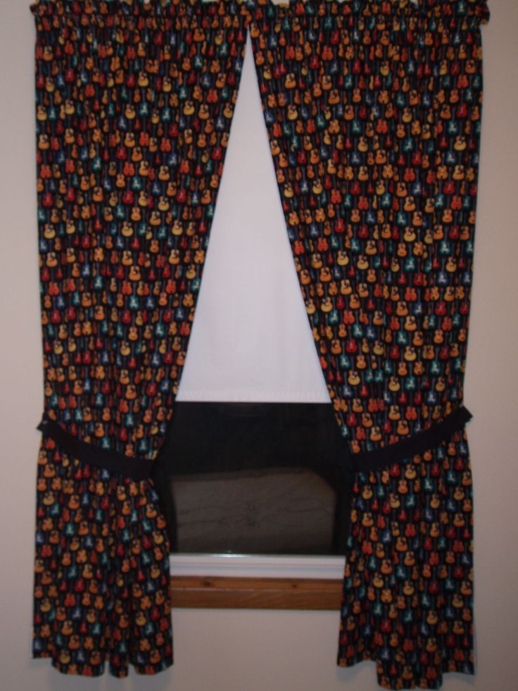Guitar Curtains My Doll Clothes Pinterest Curtains