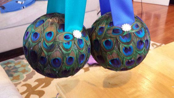 Pavo real de niña de las flores besos bola / Pomander 5