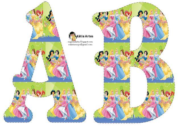 Alfabeto Princesas de Disney. - Oh my Alfabetos!