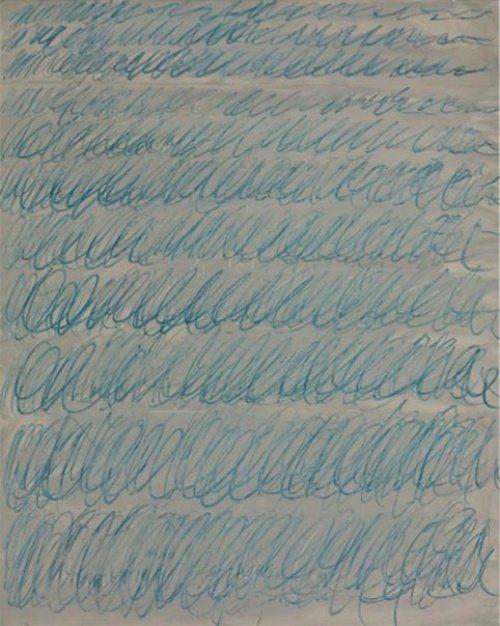 Странные картины, проданные за миллионы.   «Без названия» Сай Твомбли — $2 300 000