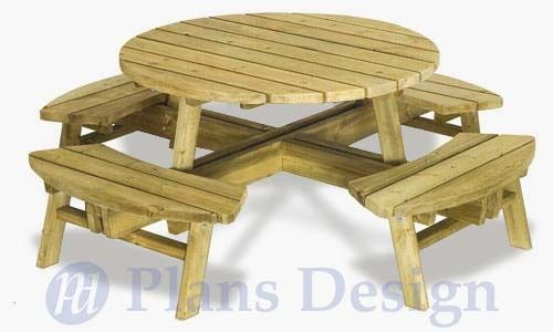 Best 25 Round Picnic Table Ideas On Pinterest Outdoor