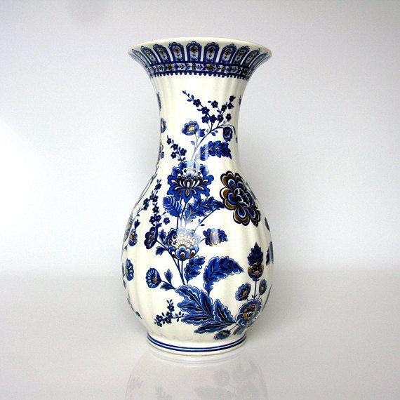 Italian Vase Ceramiche Artistiche Mid Century Blue