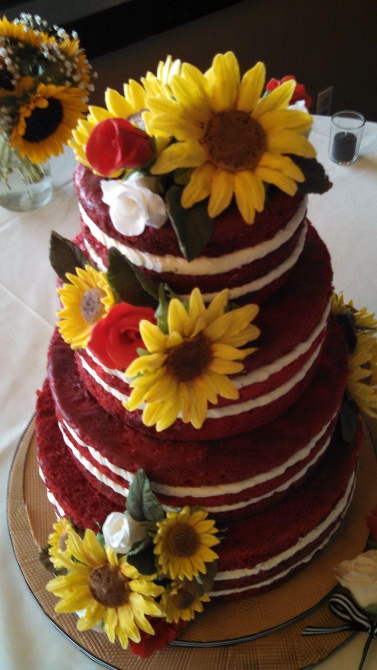 Red Velvet Naked Cake Ld Custom Cake Designs In 2019