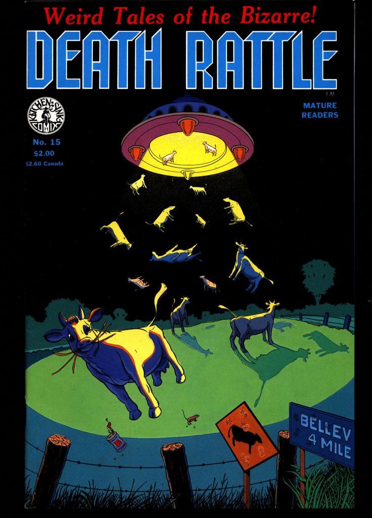 DEATH RATTLE #15 Jack Jackson Jaxon Don Simpson Bill Hartwig Mature Horror Fantasy Science Fiction Psychedelic Underground Anthology Comic