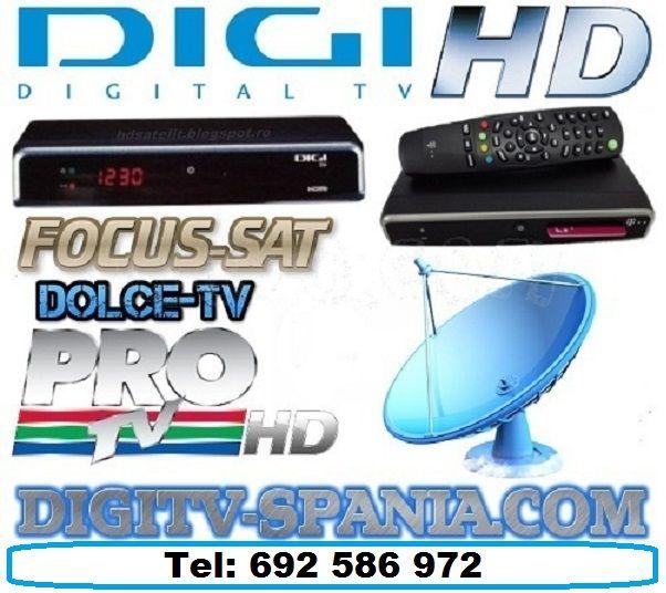 50,00€ · Digi Tv Spania · Digi Tv Spania, vende antenas parabolicas y receptoare Digi Tv Dolce Tv y Focus sat en Madrid y a toda España a precios economicos. Instalamos orientamos antena Digi tv, antena parabolica en Madrid. Somos antenistas profesionales sin intermediarios al mejor precio del mercado.Sunati-ne la Sase noua doi cinci opt sase noua sapte doi. Mas informacion en http://digitvspania.info · Electrónica > Audio y vídeo > Vídeo > TDT / Satélite > Antenas parabólicas