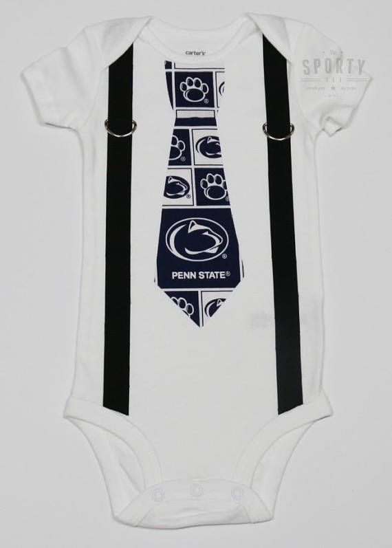 ffb79c332 Penn State Nittany Lions boys Suspenders and Tie onesie or | NCAA ...