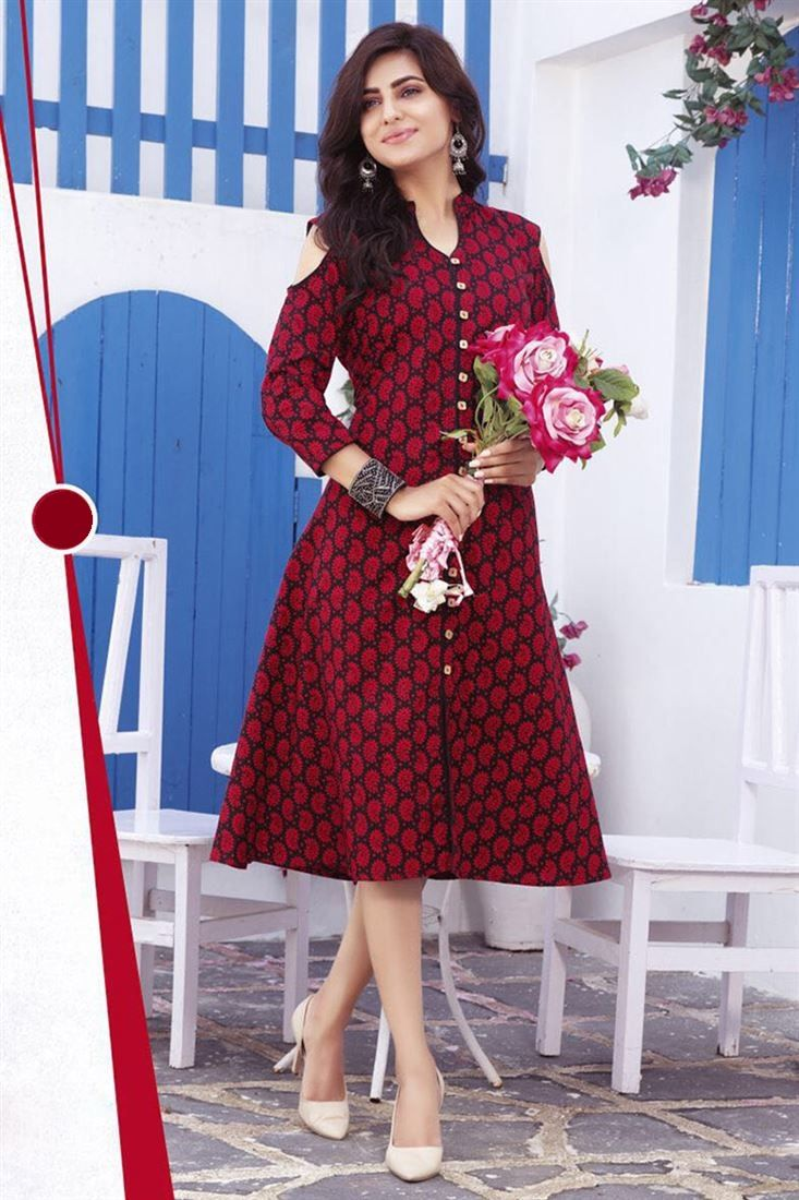 d9e4eb23c2 Latest Indian Pakistani Elegant Kurti Designs 2018-2019 Collection ...