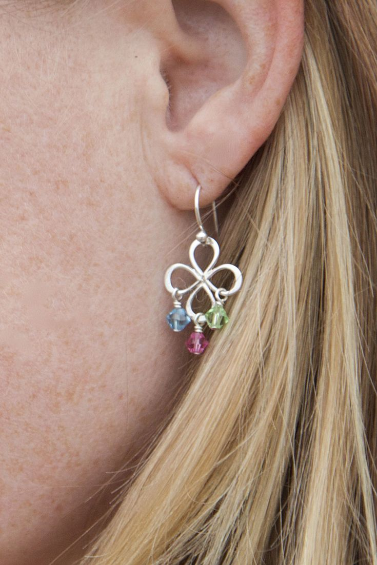 Adorable birthstone earrings from Jules Jewelry!