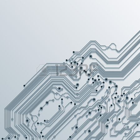 3d circuit board background texture vector Stock Vector