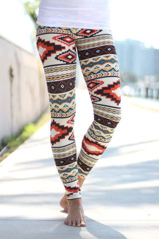 Buy These Trendy Tribal Print Leggings From Saved By The Dress Boutique Stay In Fashion Look Cool And Different Multi Color
