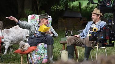 Dreharbeiten Sommer 2015: Brakelmann und Adsche üben die nächste Szene.