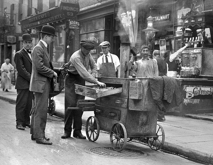 Vendedor ambulante en Nueva York, 1915. Biblioteca del Congreso