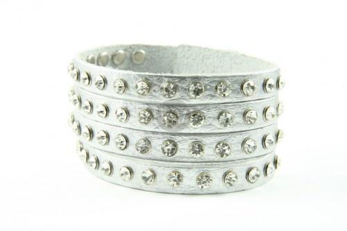 Bratara din piele Fashion silver | Wo-Men.ro