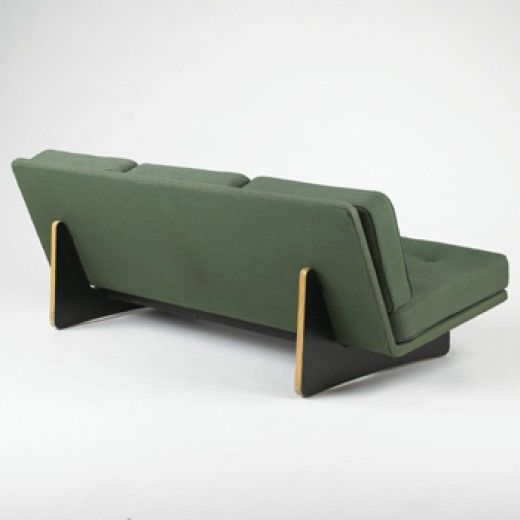 KHO LAING LI sofa Artifort France, 1960 plywood, upholstery