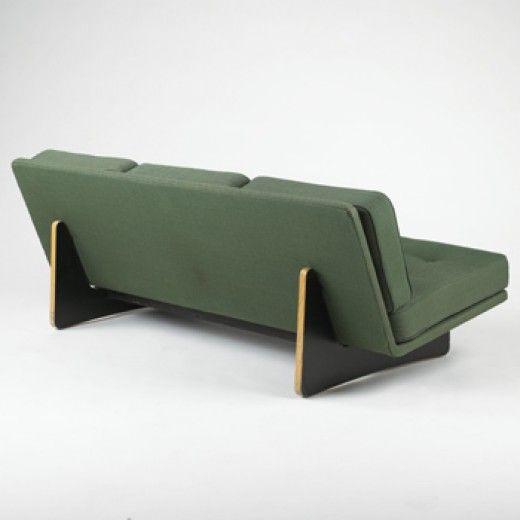 KHO LAING LI sofa Artifort France, 1960 plywood, upholstery