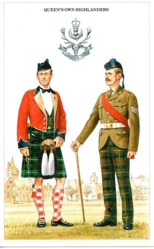 Queens Own Highlanders, post card