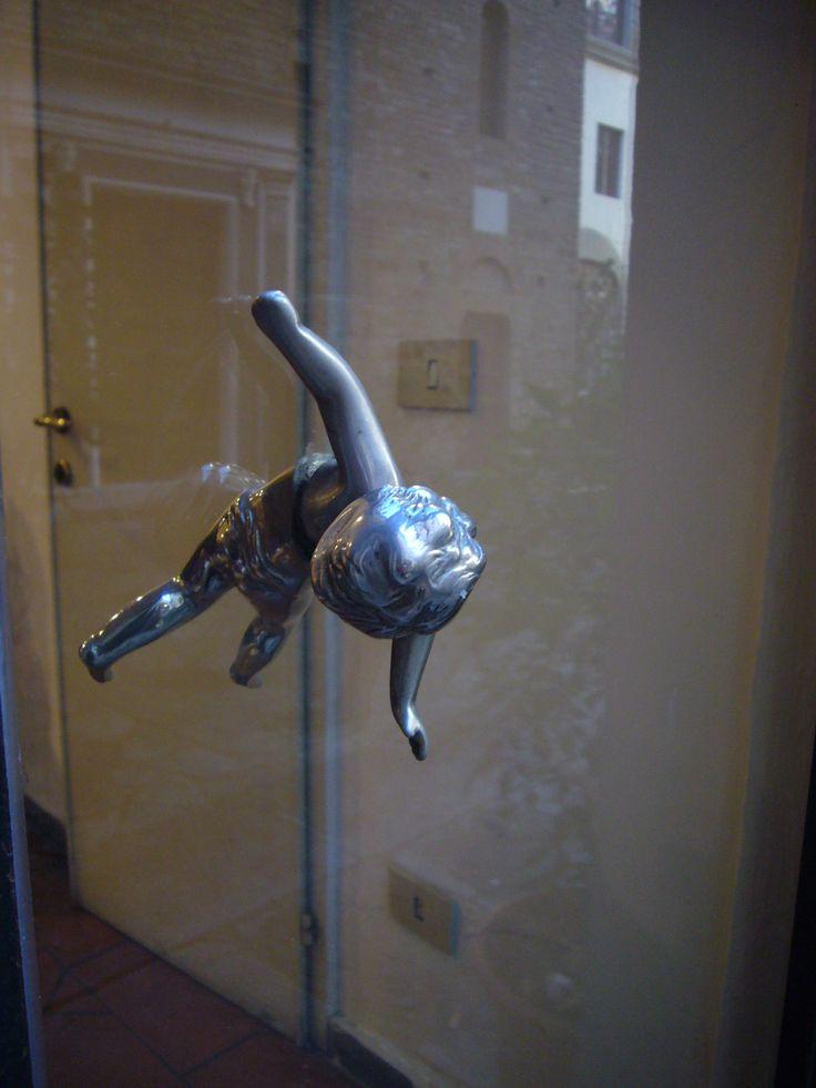Beautiful door handle in Florence