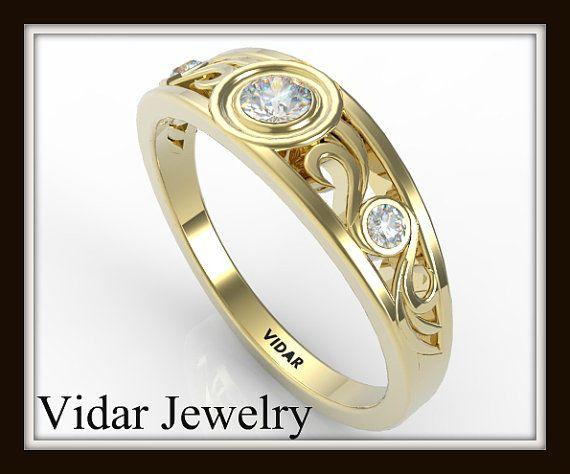 Filigree Diamond Wedding ring For Women-Unique Wedding Ring Design!