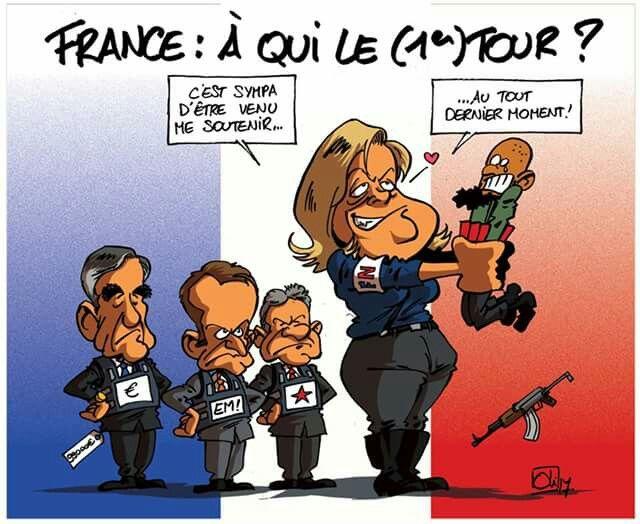 Oli 2017 04 21 france lections pr sidentielles fillon macron hamon le pen marine - Dates elections presidentielles france ...
