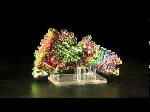 """3"""" Hoppered BISMUTH Crystals Bright Rainbow Kaleidoscope Colors Germany for sale"""