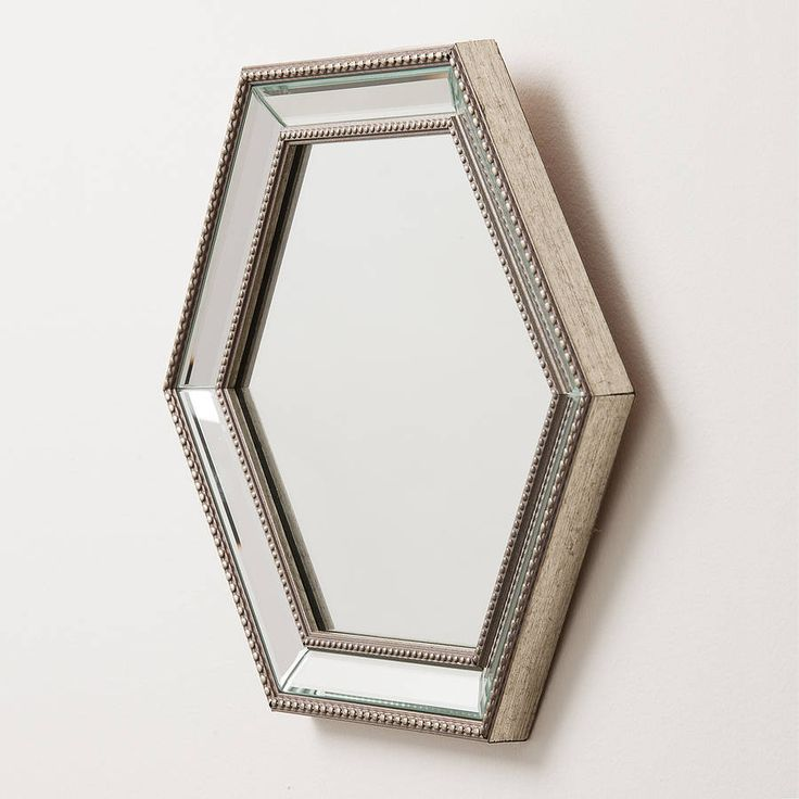 Hexagonal Bevelled Glass Mirror