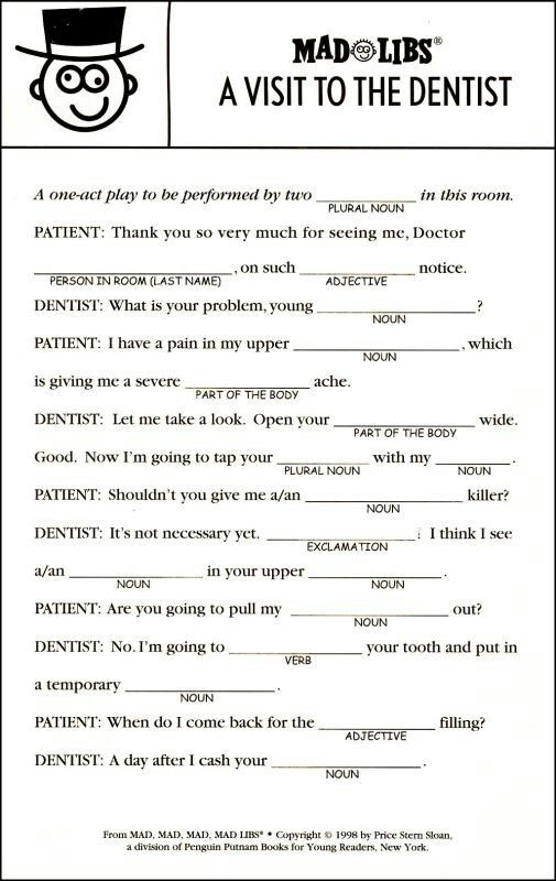 It's just a photo of Geeky Printable Mad Libs Sheets for Adults