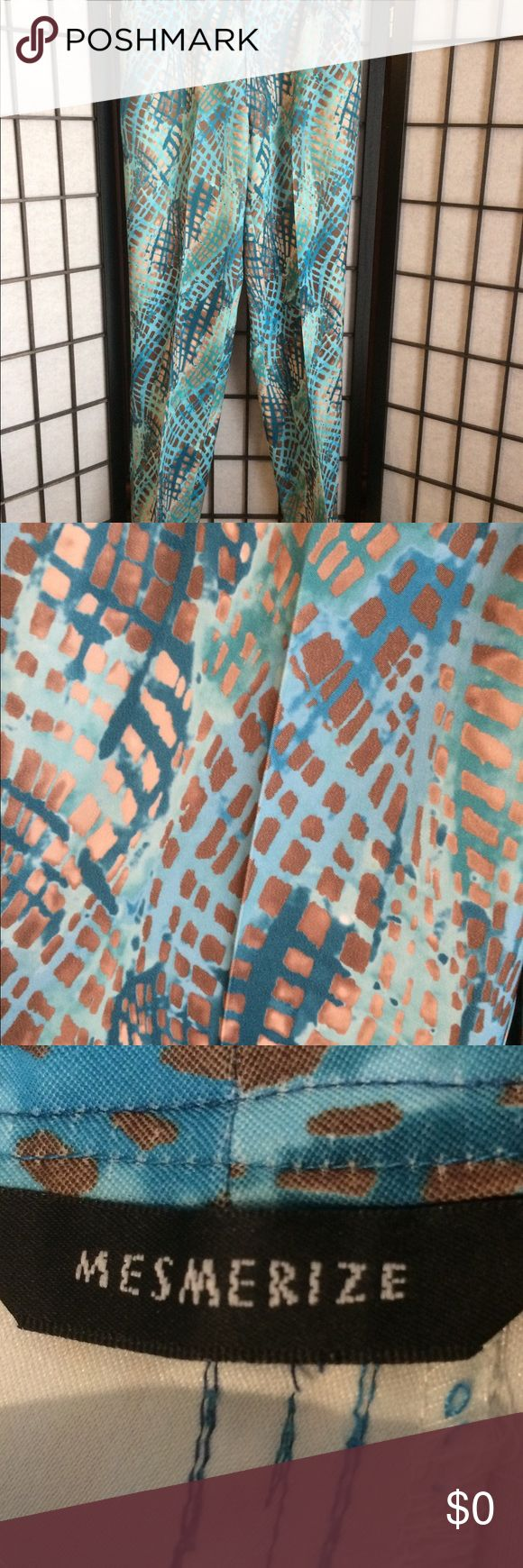 Mesmerize Turquoise Pants Mesmerize Turquoise Pants With Brown Tones. These pants are so comfortable. Mesmerize Pants Straight Leg