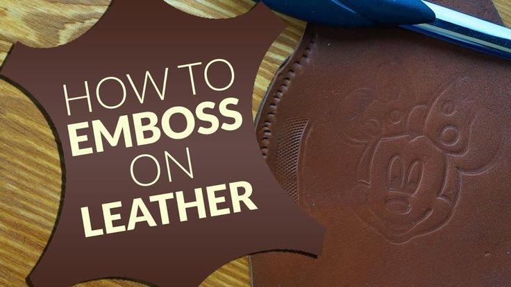 How to emboss on leather ( easy way)