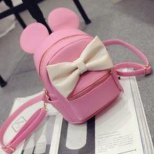 4 Color.Top quality.Kawaii Mini Cartoon Bow-knot Backpack.Lady Girls Travel Blosas Backpacks.Student School Bag.mochila feminina(China (Mainland))