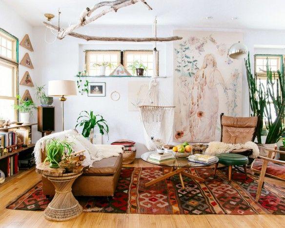 Chez Emily Katz  l\u0027intérieur d\u0027une hippie moderne